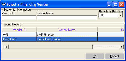 how to clear a credit on a vendor account